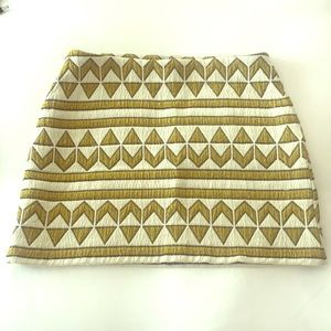 Zara, Aztec pattern woven mini skirt